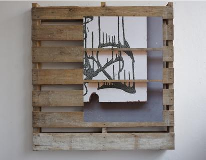 Palette mit Fragment, 2013